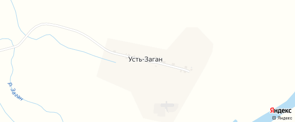 Улица Ленина на карте села Устя-Загана с номерами домов