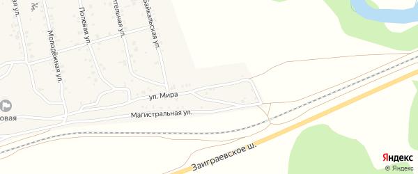 Улица Мира на карте поселка Нижние Тальцы с номерами домов
