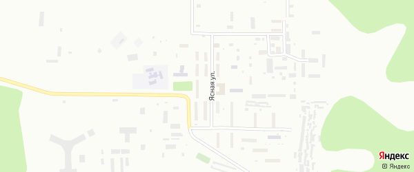 Звездный поселок на карте Улан-Удэ с номерами домов