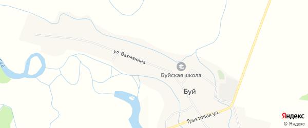 Карта села Буя в Бурятии с улицами и номерами домов