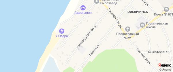 Производственная улица на карте села Гремячинска с номерами домов