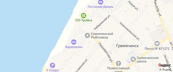Набережная улица на карте села Гремячинска с номерами домов