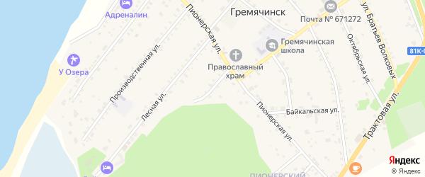 Нагорная улица на карте села Гремячинска с номерами домов
