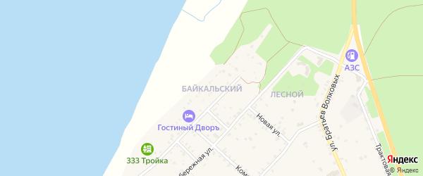 Байкальский микрорайон на карте села Гремячинска с номерами домов