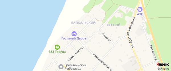 Набережный переулок на карте села Гремячинска с номерами домов