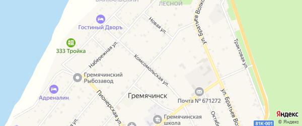 Спортивная улица на карте села Гремячинска с номерами домов