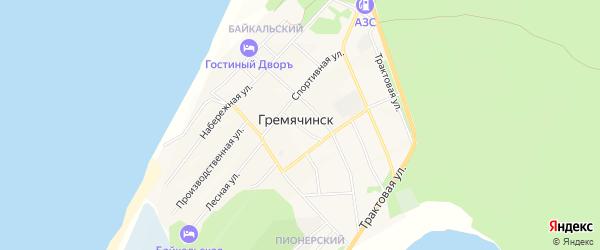 Карта села Гремячинска в Бурятии с улицами и номерами домов