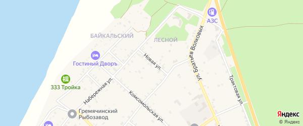 Новая улица на карте села Гремячинска с номерами домов