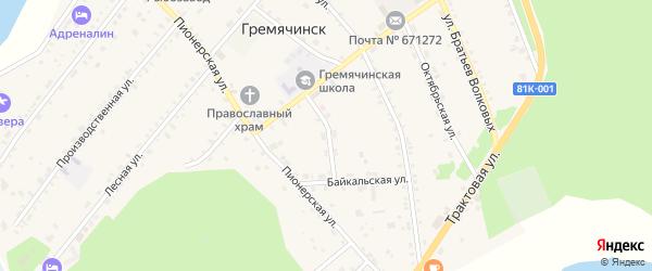 Молодежная улица на карте села Гремячинска с номерами домов