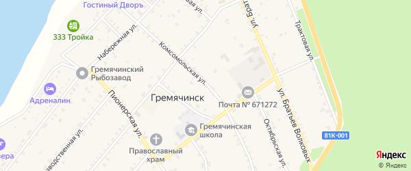 Комсомольская улица на карте села Гремячинска с номерами домов