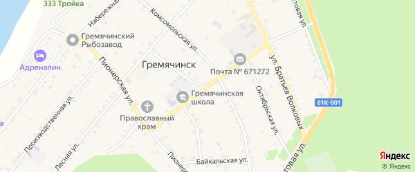 Школьная улица на карте села Гремячинска с номерами домов