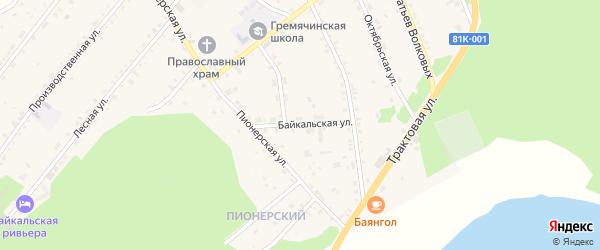 Байкальская улица на карте села Гремячинска с номерами домов
