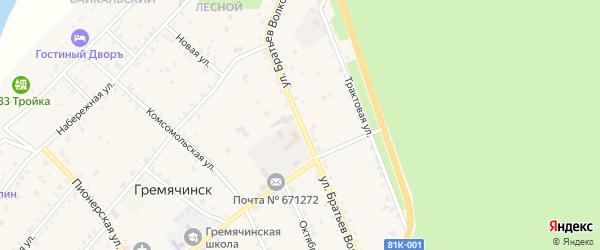 Улица Братьев Волковых на карте села Гремячинска с номерами домов