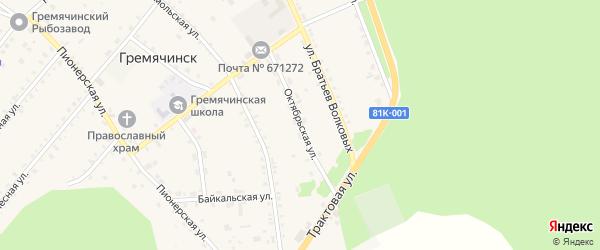 Октябрьская улица на карте села Гремячинска с номерами домов