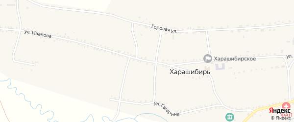 Улица В.Иванова на карте села Харашибири с номерами домов