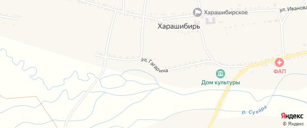 Улица Гагарина на карте села Харашибири с номерами домов