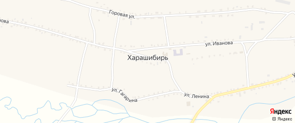 Набережная улица на карте села Харашибири с номерами домов