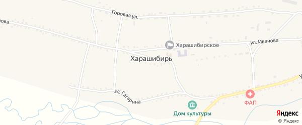 Улица Ленина на карте села Харашибири с номерами домов