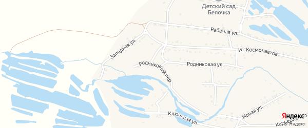 Родниковый переулок на карте Онохого поселка с номерами домов
