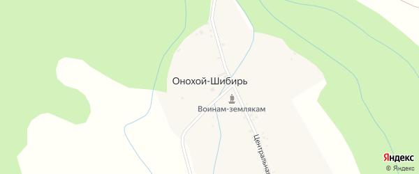 Улица Харза на карте улуса Онохой-Шибирь с номерами домов