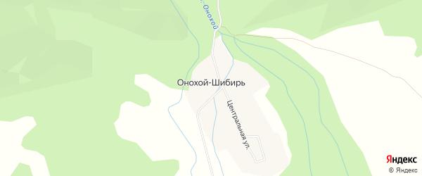 Карта улуса Онохой-Шибирь в Бурятии с улицами и номерами домов