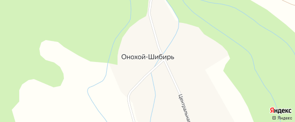 Подгорная улица на карте улуса Онохой-Шибирь с номерами домов
