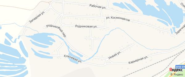 Мысовой переулок на карте Онохого поселка с номерами домов