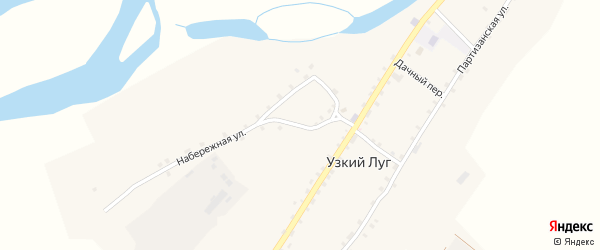 Молодежный переулок на карте села Узкого Луга с номерами домов
