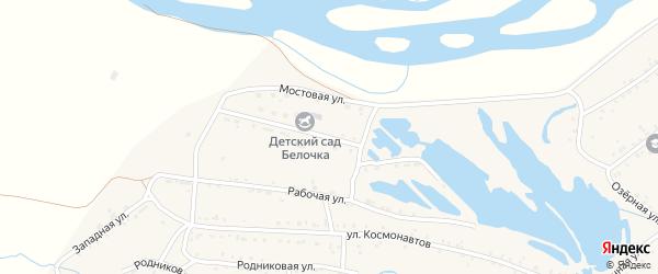 Промышленная улица на карте Онохого поселка с номерами домов