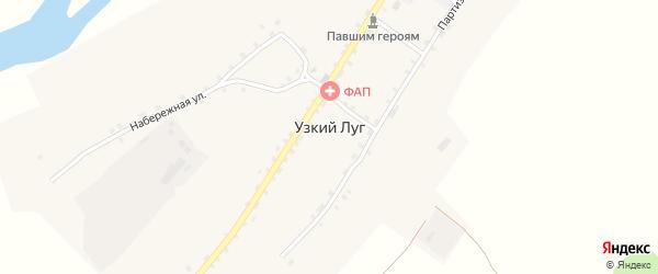 Набережная улица на карте села Узкого Луга с номерами домов