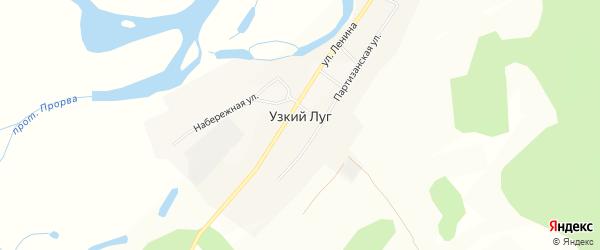 Карта села Узкого Луга в Бурятии с улицами и номерами домов