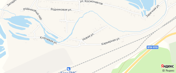 Новая улица на карте Онохого поселка с номерами домов