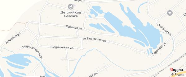 Улица Космонавтов на карте Онохого поселка с номерами домов