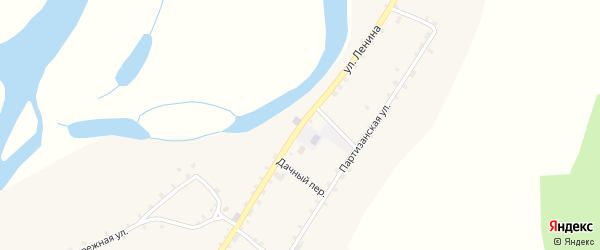 Улица Ленина на карте села Узкого Луга с номерами домов