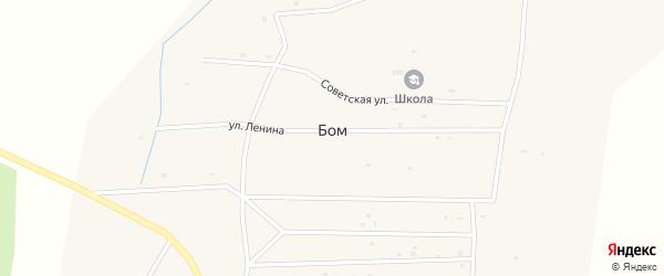 Советская улица на карте улуса Бом с номерами домов