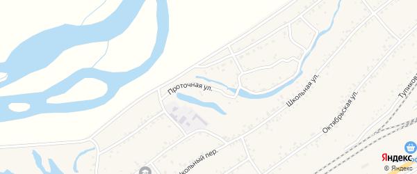 Проточная улица на карте Онохого поселка с номерами домов