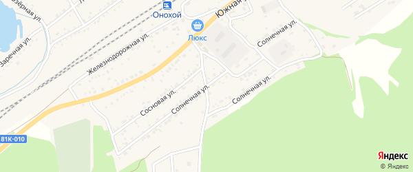 Солнечная улица на карте Онохого поселка с номерами домов
