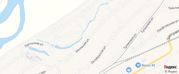 Школьная улица на карте Онохого поселка с номерами домов
