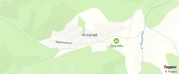 Карта поселка Атхатая в Бурятии с улицами и номерами домов
