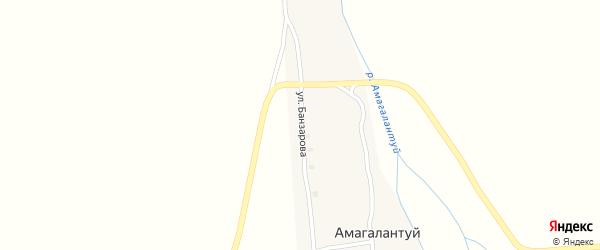 Улица Банзарова на карте улуса Амагалантуй с номерами домов