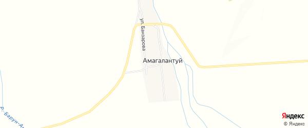 Карта улуса Амагалантуй в Бурятии с улицами и номерами домов