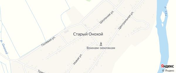 Новая улица на карте села Старого Онохой с номерами домов