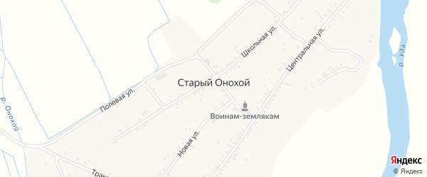 Набережная улица на карте села Старого Онохой с номерами домов