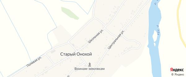 Школьная улица на карте села Старого Онохой с номерами домов