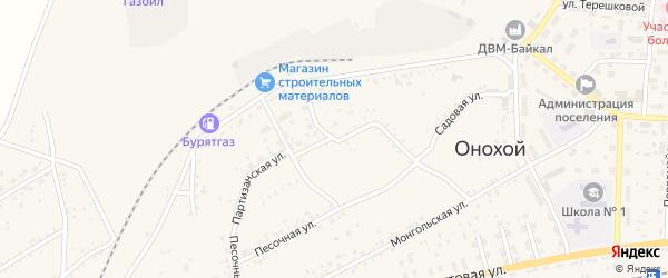 Парковый переулок на карте Онохого поселка с номерами домов