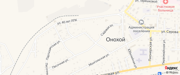 Парковая улица на карте Онохого поселка с номерами домов