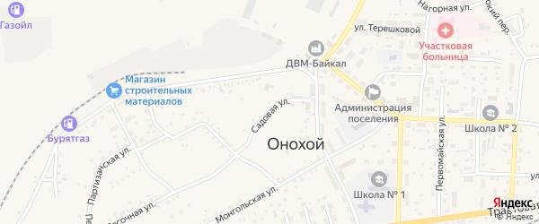 Садовая улица на карте Онохого поселка с номерами домов