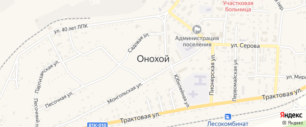 Талецкая улица на карте Онохого поселка с номерами домов