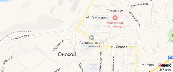 Улица Гагарина на карте Онохого поселка с номерами домов