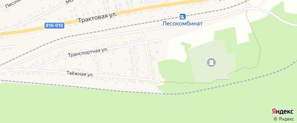 Заиграевская улица на карте Онохого поселка с номерами домов
